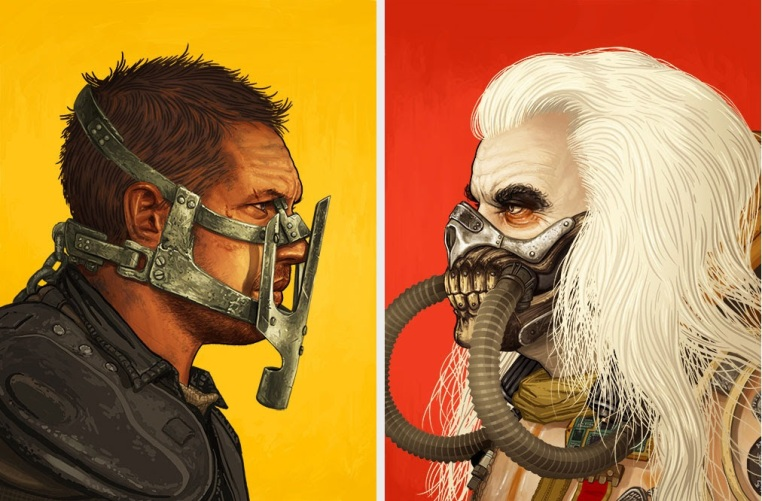 "Mad Max Fury Road ""Immortan Joe"" & ""Max Rockatansky"" Screen Prints by Mike Mitchell.jpg"