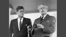 Harold Macmillan with JFK
